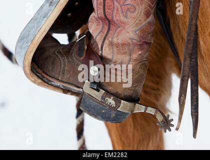 Detail shot of Cowboy Boot - Stock Photo