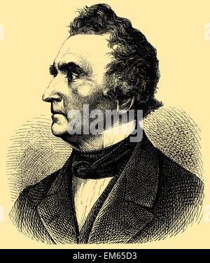 Justus von Liebig (1803 –1873), German chemist - Stock Photo