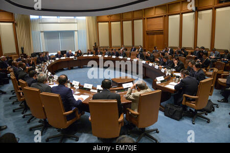 Washington, DC, USA. 16th Apr, 2015. The Finance Ministers and Central Bank Governors Meeting of the BRICS (Brazil, - Stock Photo