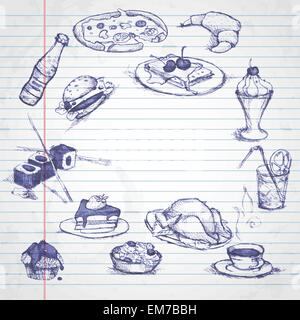 Set of Hand Drawn Various Elements - Stock Photo