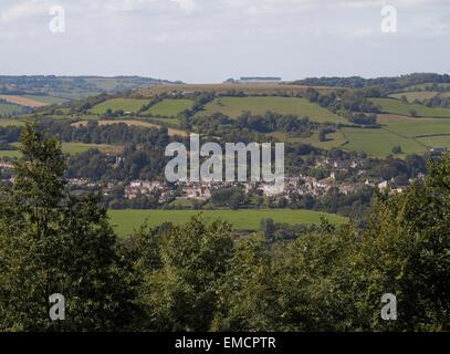 Little Solsbury Hill Batheaston from Bathampton Bath and Northeast Somerset England UK - Stock Photo