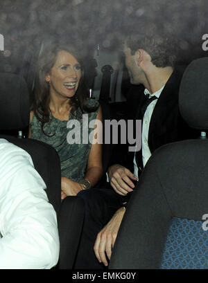 01.JUNE.2011. LONDON  DAVID TENNANT AND CATHERINE TATE LEAVING FOUNDATION BAR IN COVENT GARDEN AFTER ATTENDING THE - Stock Photo
