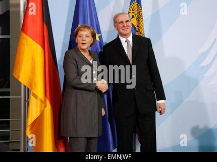 BKin Angela Merkel, Otmar Hasler - Treffen der dt. Bundeskanzlerin mit dem Regierungschef des Fuerstentums Liechtenstein, - Stock Photo