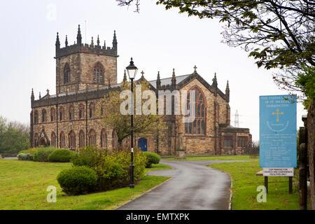 UK, Cumbria, Workington, St Michael's Parish Church exterior - Stock Photo