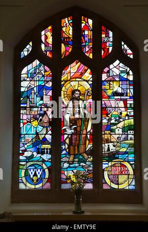 UK, Cumbria, Workington, St Michael's Church, the Workington Window, made after 1994 fire - Stock Photo