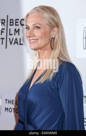 New York, USA. 22nd April, 2015. Actress Joely Richardson walks the red carpet during world premiere of ,,Maggie,, - Stock Photo