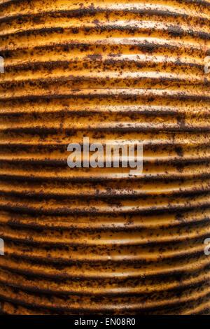 Rusty oil barrel background - Stock Photo