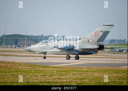 'Mac Robert's Revenge' 15 Squadron Tornado GR4 Bomber at RAF Lossiemouth.  SCO 9700. - Stock Photo