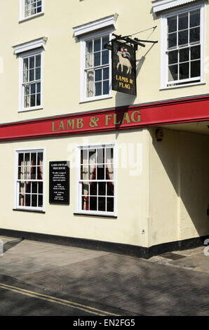 The historic Land and Flag Pub, Oxford. It is believe Thomas Hardy wrote much of Jude the Obscure here. - Stock Photo