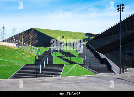 The International Conference Centre in Katowice, Silesia, Poland - Stock Photo