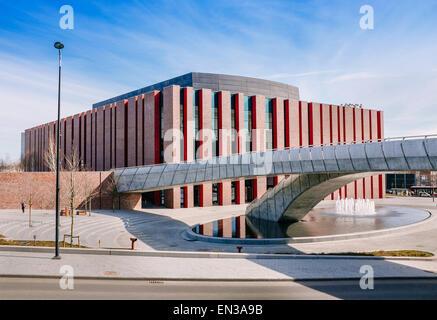 Polish National Radio Symphony Orchestra modern building , Katowice, Poland - Stock Photo