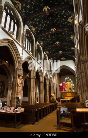 UK, England, Somerset, Taunton, St Mary Magdalene Church interior - Stock Photo
