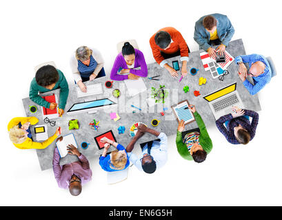 Group of Design Team on Working - Stock Photo