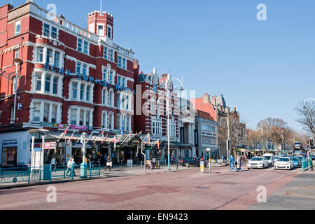 Scarisbrick Hotel on Lord Street in Southport. Lord Street is Merseyside's most fashionable shopping street - Stock Photo