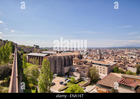 A view over the city of Girona, Catalonia, Spain. - Stock Photo