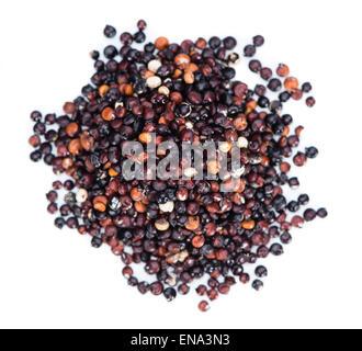 Black Quinoa (isolated on pure white) background - Stock Photo