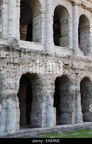 Italy. Rome. Theater of Marcellus. Roman Republic. 13 BC. - Stock Photo