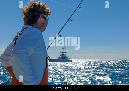 Offshore sport fishing in the Florida Keys. USA - Stock Photo