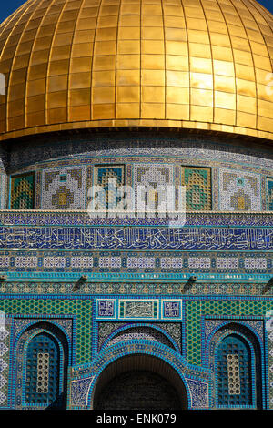 Dome of the Rock Mosque, Temple Mount, UNESCO World Heritage Site, Jerusalem, Israel, Middle East - Stock Photo