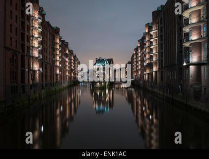Speicherstadt District, Hafencity, Hamburg, Germany, Europe - Stock Photo