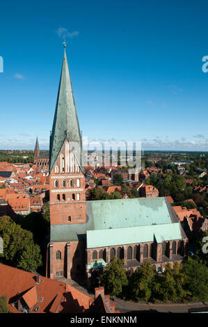 Kirche St. Johannis, Lueneburg, Niedersachsen, Deutschland |  church St. Johannis, Lueneburg, Lower Saxony, Germany - Stock Photo