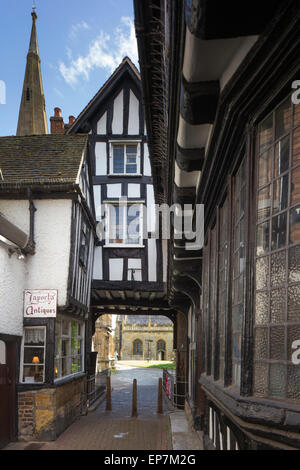 A side street in Evesham, Worcestershire, England, UK - Stock Photo