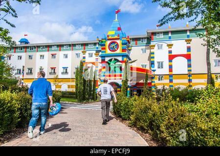 Entrance to the Legoland hotel, Legoland Windsor, London, England, United Kingdom. - Stock Photo