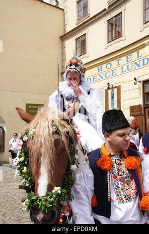 The Ride of the Kings takes place during the spring, as a part of the Pentecost traditions . A group of young men - Stock Photo