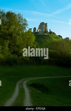 Corfe Castle Dorset - Stock Photo