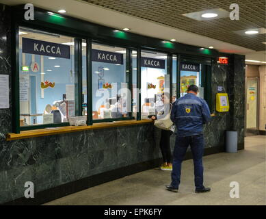Moscow, Russia. 19th May, 2015. Ticket offices at Mitino Station of the Moscow Metro. © Nikolai Galkin/TASS/Alamy - Stock Photo