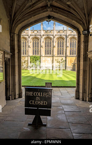 View into the Front Quadrangle of All Souls College on High Street, in the University City of Oxford, Oxfordshire, - Stock Photo