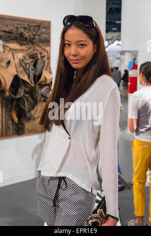 Florida Miami Art Basel international fair exhibition modern contemporary paintings pictures sculptures beautiful - Stock Photo