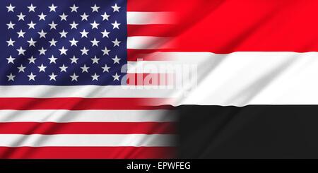 USA and Yemen - Stock Photo
