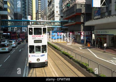 dh Hennessey Road CAUSEWAY BAY HONG KONG New tram Hong Kong road public transport - Stock Photo