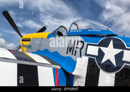 North American P51 Mustang WW2 escort fighter - Stock Photo