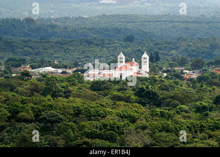 Spanish colonial town of Juayua and coffee plantations in western El Salvador, Central America - Stock Photo