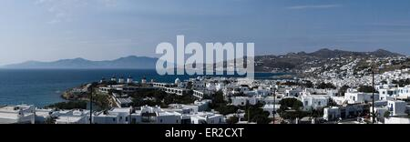Panoramic view of Mykonos - Stock Photo