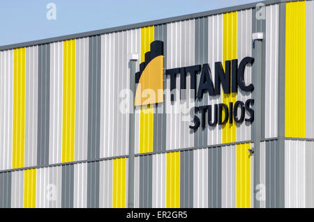 Titanic Studios, Belfast, where Game of Thrones is filmed along with many Hollywood movies - Stock Photo