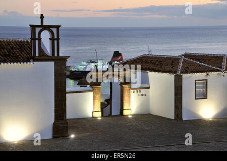 Fort of Vila do Porto, Island of Santa Maria, Azores, Portugal - Stock Photo
