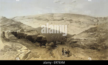 The valley of the shadow of death Caves in the Woronzoff Road behind the 21 gun battery /. Broad view of the landscape - Stock Photo