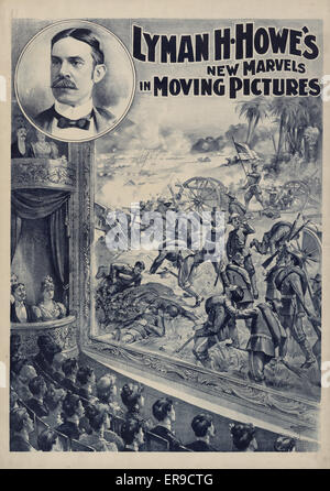 Lyman H. Howe's new marvels in moving pictures. Print shows people watching a motion picture in a theater of an - Stock Photo