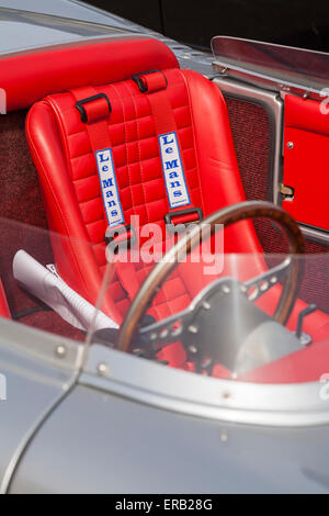 Le Mans seat in GP Spyder RSK 718 a recreation of the famous Porsche 718 open-cockpit racing car - Stock Photo