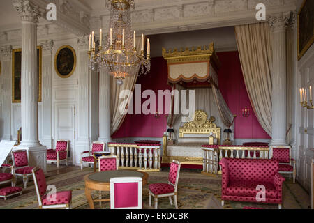 The Empress's Bedroom in the Grand Trianon of the Château de Versailles, France - Stock Photo