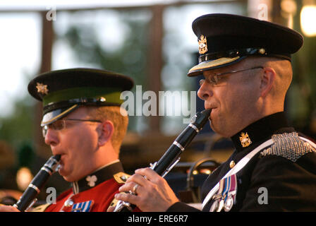 Royal Military School of Music - Concert in the Park, military personnel playing clarinet at Kneller Hall, Twickenham, - Stock Photo