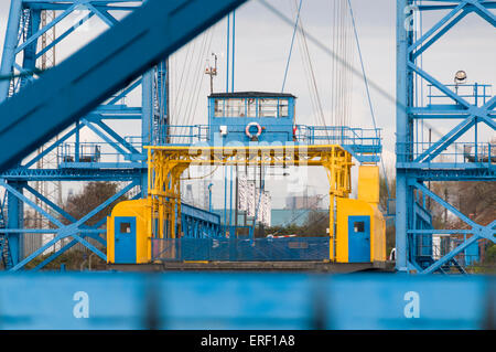 The Transporter Bridge over the River Tees, Middlesbrough, North Yorkshire - Stock Photo