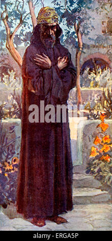 Joel  by J James Tissot. Illustration to Book of Joel , 1.1 :The word of the Lord that came to Joel the son of Pethuel'. - Stock Photo