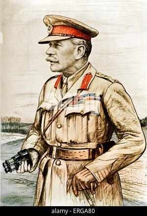 Field Marshal Douglas Haig, 1st Earl Haig - portrait. Senior officer during World War I and commander of British - Stock Photo