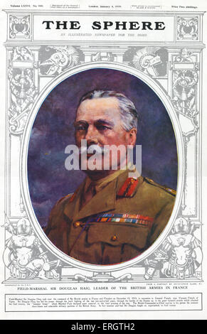 Field - Marshal Sir Douglas Haig, leader of the British armies in France. British soldier and senior commander during - Stock Photo