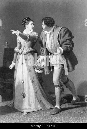 Much Ado About Nothing (Act IV Scene 1), play by William Shakespeare. Benedick and Beatrice. 'Beatrice: Talk with - Stock Photo