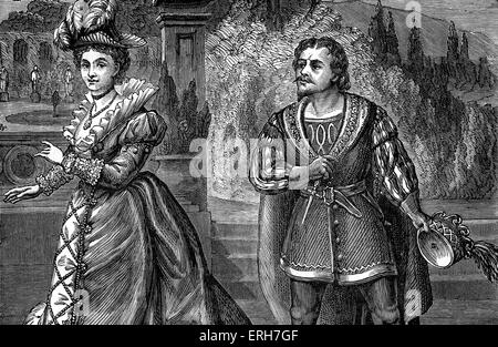 William Shakespeare 'Much Ado about Nothing' 19th century production1 . With William Creswick (27 December 1813 - Stock Photo